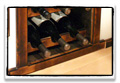 antiqued reclaimed wood wine rack